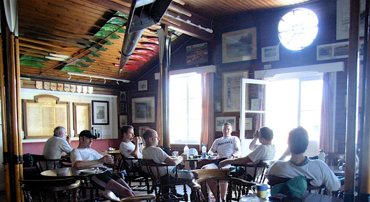 Lunch in the old bar, 2009.