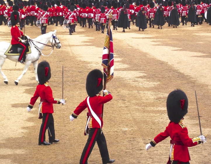 The Colours of the Coldstream Guards were paraded this year. The gentleman sitting next to me was bursting with pride as his 19-year-old grandson was the youngest member of the Escort to the Colour. It is amazing what teenagers can do if they can get out of bed.