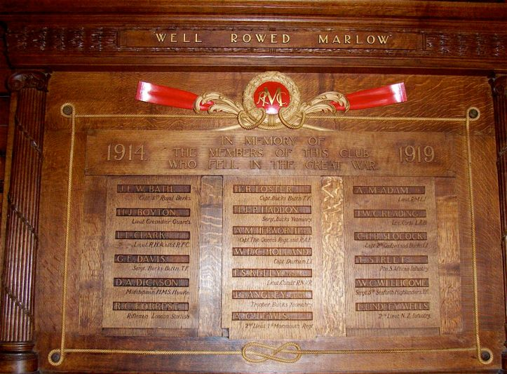 The club's very fine 1914 - 1918 War Memorial was undamaged by the fire.