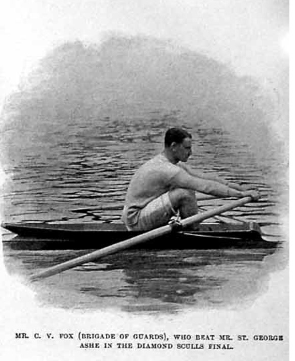 Charles Vincent Fox on his way to winning the Diamond Challenge Sculls in 1901. Photo: The Illustrated Sporting and Dramatic News (13 July 1901).