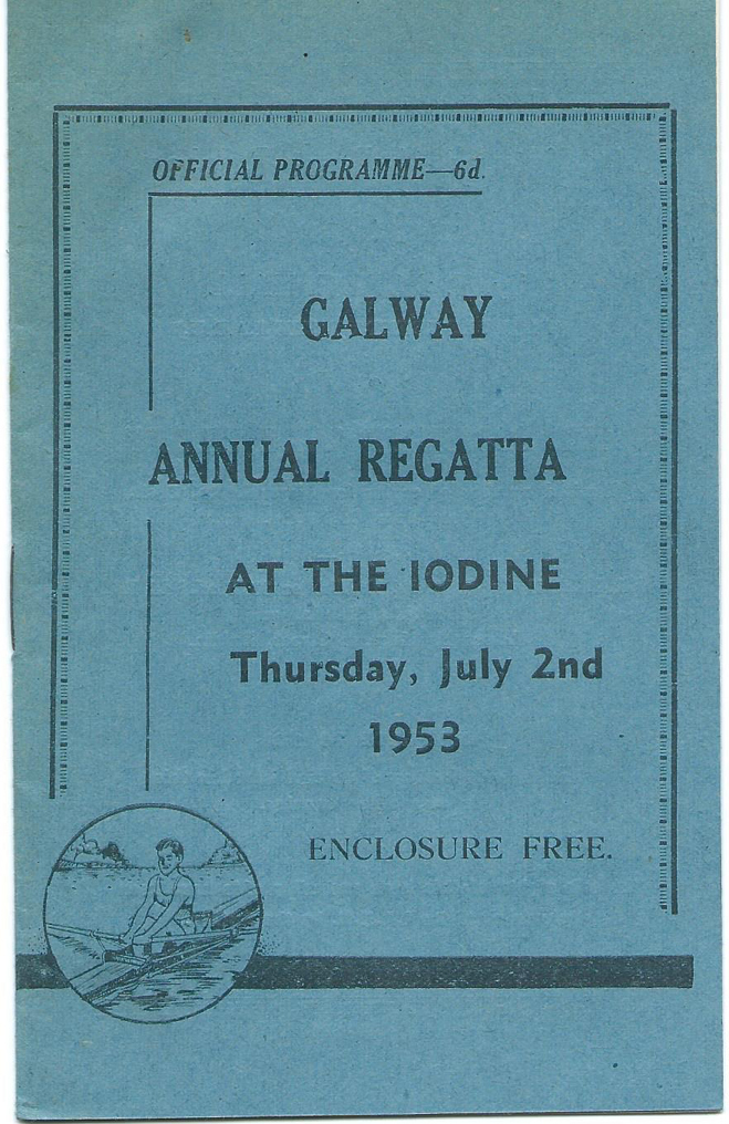 Galway regatta programme from 1953.