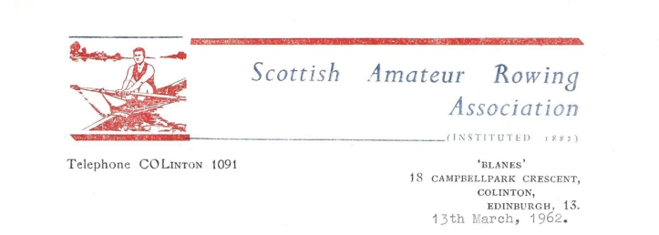 Letterhead from the Scottish Federation.