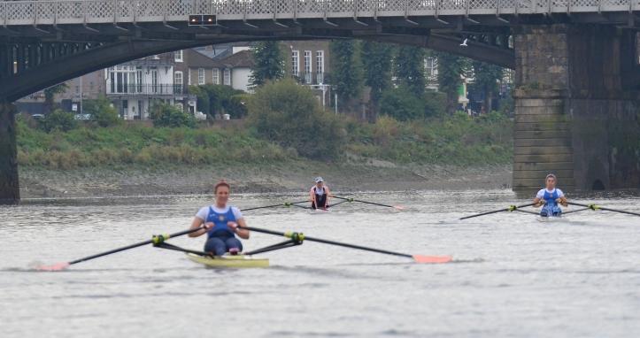 Barnes Bridge times: Leyden 18.45, Francis 18.54, Whittaker 19.08, Carlton 19.19.