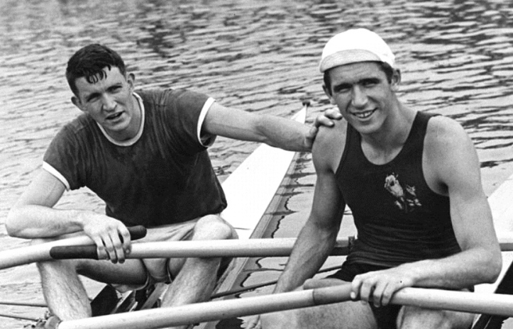 Mackenzie & Ivanov pictured in 1958 – both fans of Sims boats.