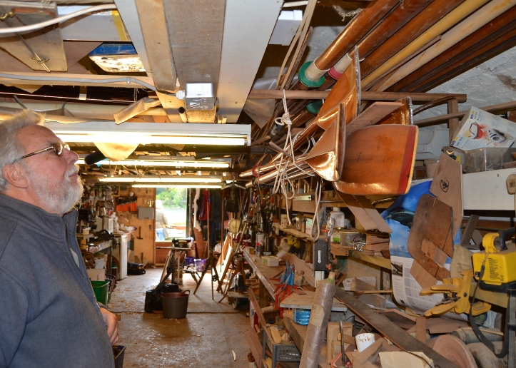 Like most 'mancaves', Bill's workshop has lots of things that he has kept in the certainty that they will be needed one day.
