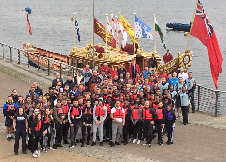 At the former Royal Albert Docks in east London, 80 youngsters recently enjoyed their first taste of rowing.