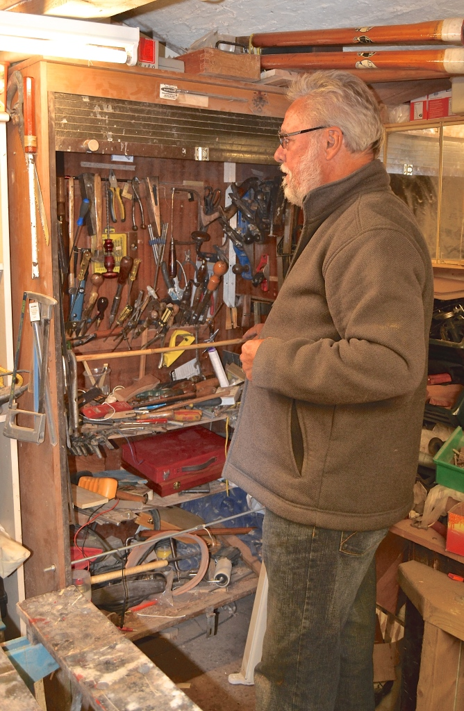 Bill keeps many of his irreplaceable tools locked away.