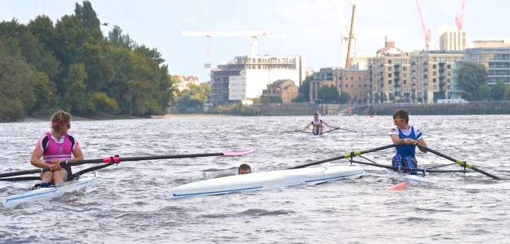 Umpire Searle was forced to briefly stop Boddington and Christie to prevent them hitting the capsized Middleton.