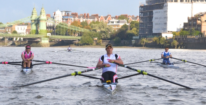 The times at Hammersmith were: Kirkwood 8.29, Richards 8.40, Boddington 8.41, Christie 8.44.