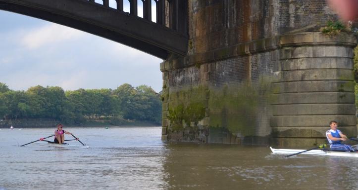 Barnes Bridge times: Kirkwood 17.27, Boddington 18.01, Richards 18.04, Christie 18.09.