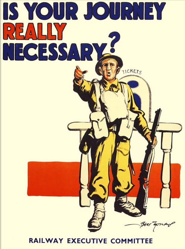 Railways were needed for essential war work, not for leisure activities.