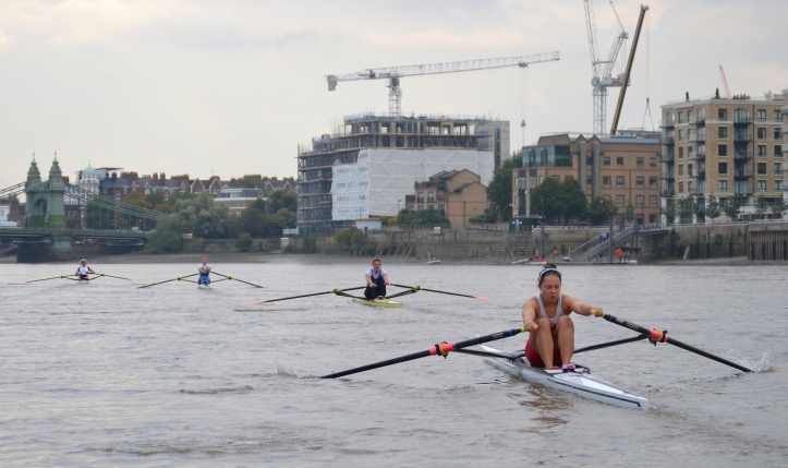 Approaching Hammersmith Bridge, the order was set; Leyden, Francis, Whittaker, Carlton.