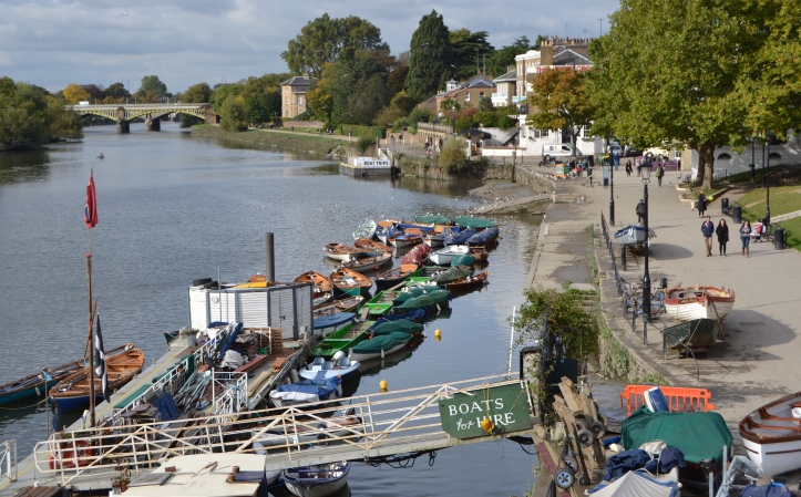 The same view today as the black and white picture above. This picture was taken in late October, in the summer the scene will be much busier and the hire skiffs will be uncovered.