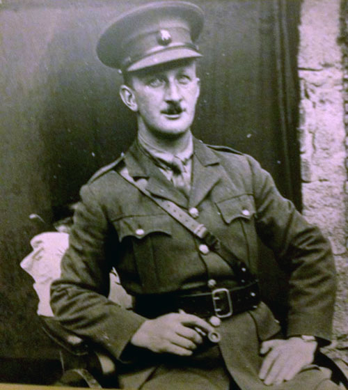2nd LIEUTENANT JOHN KNOX, ROYAL IRISH RIFLES – died 23 October 1918. Photo: Union Masonic Lodge No. 23, Newry, Province of Down.