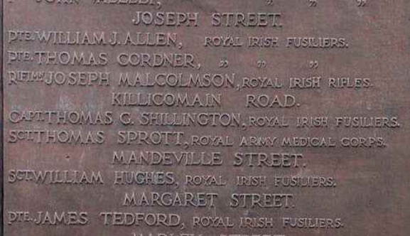 And on the Portadown War Memorial.