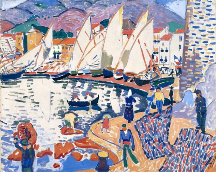 André Derain, 1905, Le séchage des voiles (The Drying Sails), oil on canvas, 82 x 101 cm, Pushkin Museum, Moscow. Exhibited at the 1905 Salon d'Automne.