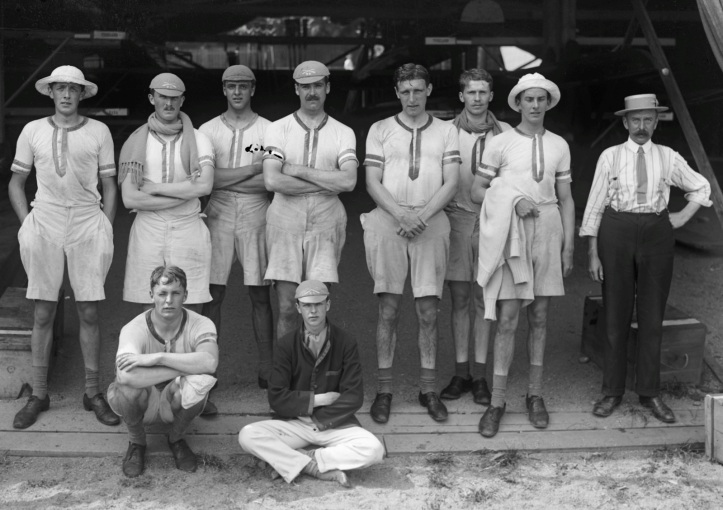 Leander Club retained the Brunetta Statuette at the 1912 Olympic Games held in Stockholm, beating their fellow countrymen from New College, Oxford, in the final. Picture: stockholmskallan.se