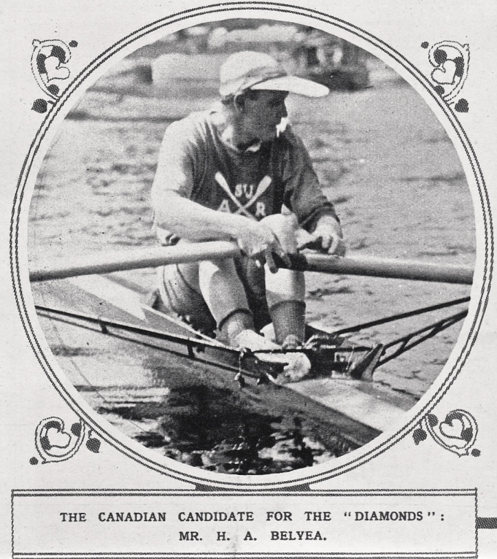 Pic 10. Hilton A. Belyea. A contemporary newspaper suggested that he use the large peak on his cap as a sail.