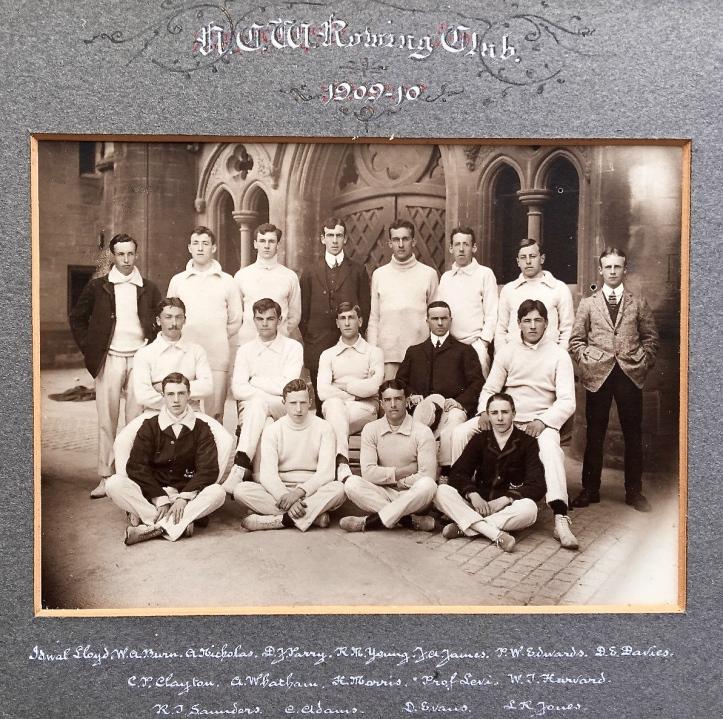 University College of Wales, Aberystwyth, Boat Club, 1906 ('NCW' should read 'UCW').
