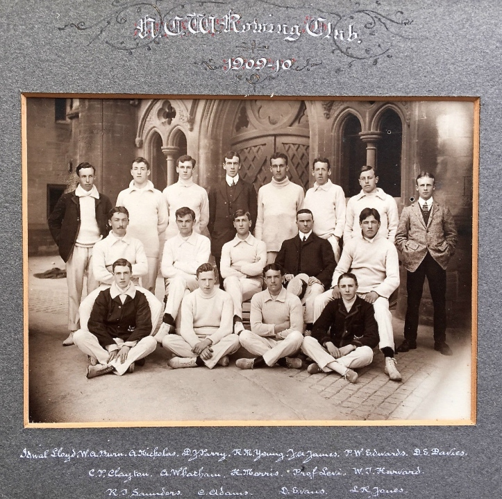 University College of Wales, Aberystwyth, Boat Club, 1906 ('NCW' should read 'UCW').