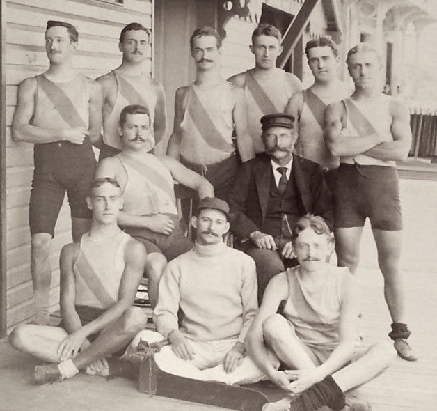 Nassau Boat Club, 1894. Presumably from the Bahamas.