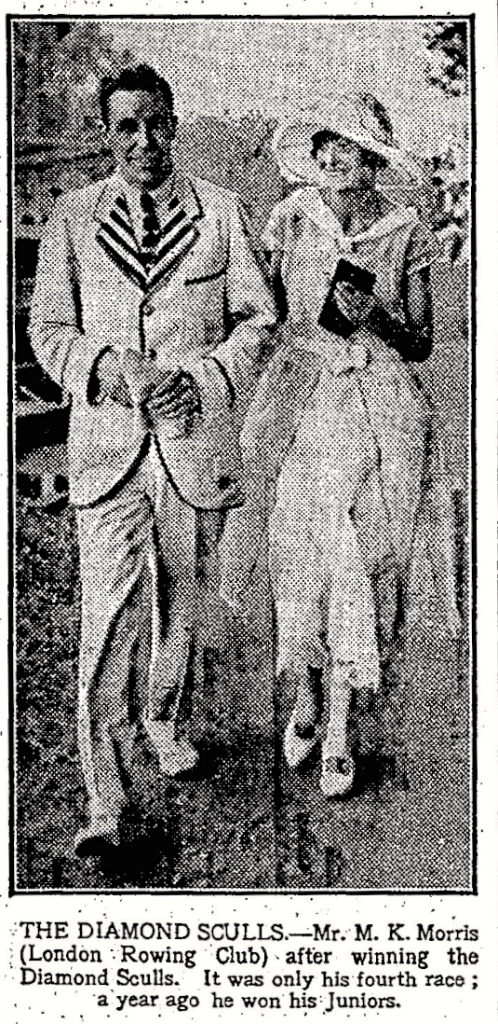 "Pic 18. Geoff apparently recovered soon enough and was photographed by ""The Times"" with Peggy Emett, his future wife (the first of three)."