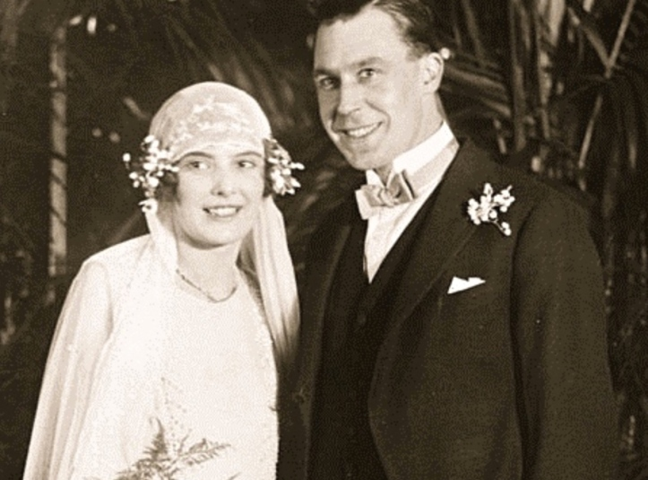 Geoff Morris at his marriage to Peggy Emett in February 1926.