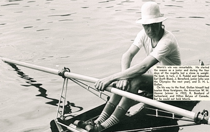 Geoff setting out for one of his races at the 1923 Henley Regatta.