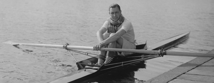 Geoff Morris, who, as Morris K. Morris, won the 1923 Diamond Sculls at Henley, less than 18 months after taking up the sport.