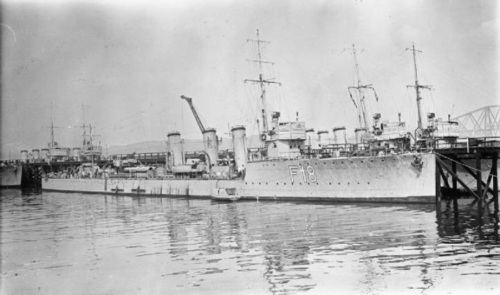 HMS Paladin, the same class of ship as HMS Nizam, on which Geoff served in 1918.