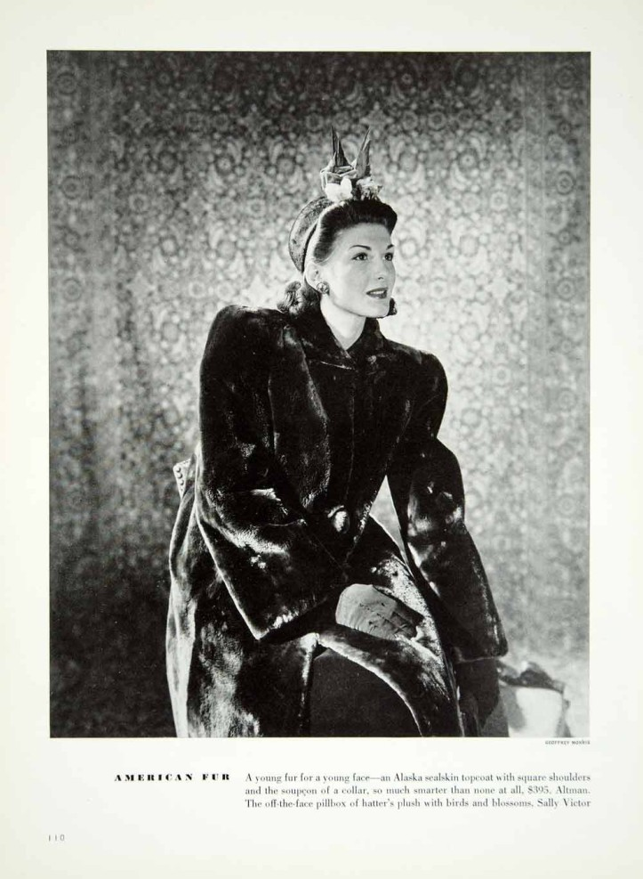One of Geoff's fashion pictures from 1940. It is a copy from a magazine so the printing does not do justice to the subtleties of light and shade that he would have obtained from his lighting on the set and his processing techniques in the darkroom.