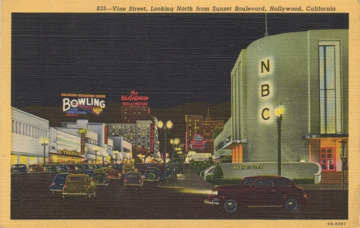 Hollywood in the 1940s. America was lit up when much of the world was in darkness.