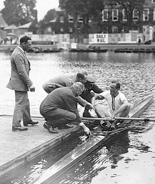 Pic 8. DHL Gollan at Henley in 1923. He was one of the first deaf people known to have competed at the Olympic Games.