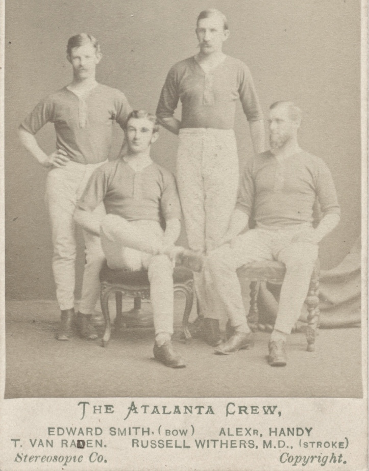 In 1872, the Atalanta Rowing Club of New York challenged London Rowing Club to a four-oared race on the Thames.