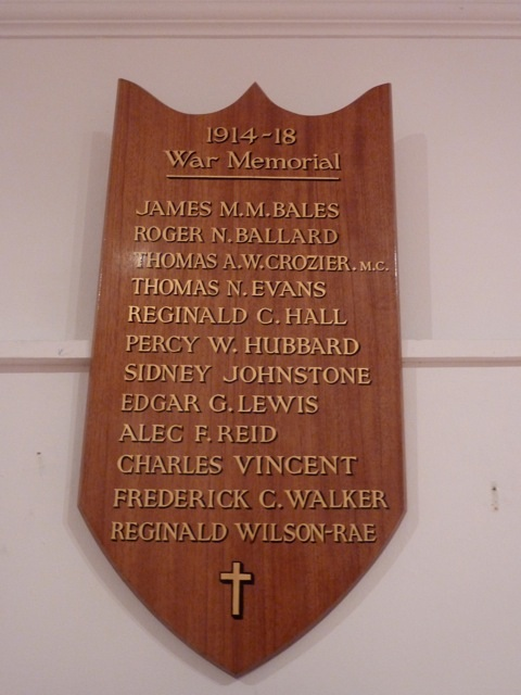 The Vesta Rowing Club war memorial as featured in a previous HTBS article Vesta RC At War 1914-1918.
