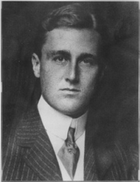 A young FDR.