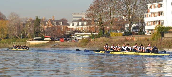 "The last few strokes at the University of London Boathouse – where ""Daniel"" wins by around four lengths."