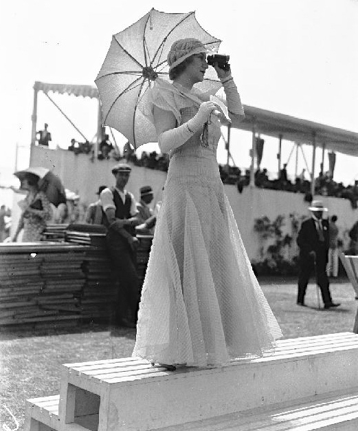 Woman's historical role at Henley Royal Regatta – looking decorative.