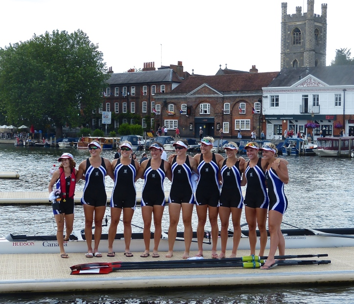 Strong women at Henley Royal: Western Rowing Club, Canada, winners of the Remenham Challenge Cup, 2015