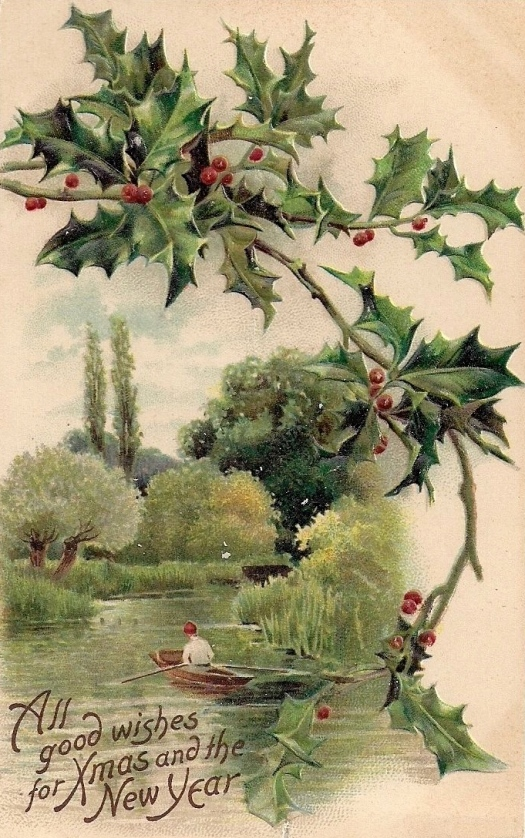 rowing-boat-holly-xmas