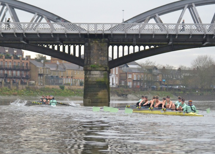 Through Barnes Bridge.