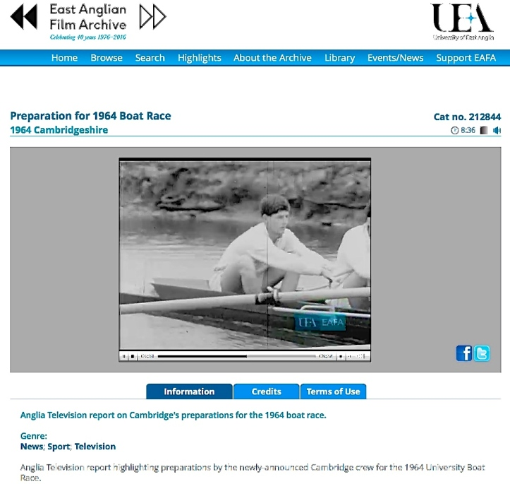 The Rowing Year was perhaps a little less intense in 1964 – when a young Donald Legget was in the Cambridge bow. Click here http://www.eafa.org.uk/catalogue/212844 for a contemporary film report (it is mute for the first 25 seconds).