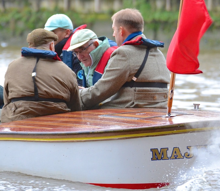 Some Old Blues who followed the race, including Henley Royal Regatta President, Mike Sweeney (centre).
