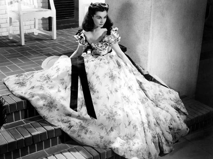 "Vivien Leigh as Scarlett O'Hara in ""Gone with the Wind"", the film that gave her an Oscar."