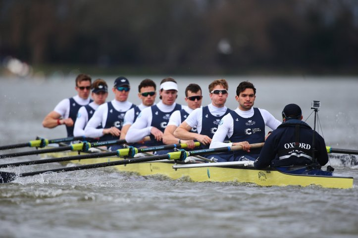 The Oxford crew that raced Oxford Brookes on 26 February. Picture: @theboatraces