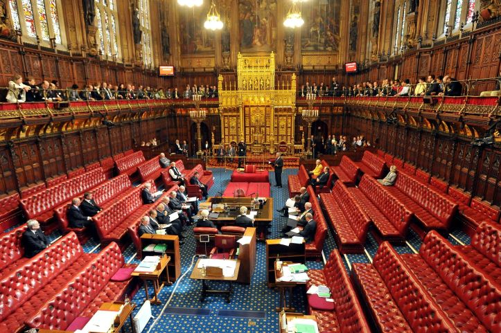 The Chamber of the House of Lords.