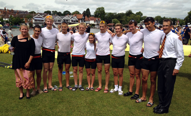 Ridley College crew racing in the 2012 Elizabeth Challenge Cup. Jason Dorland at the far right. Photo: Ridley College.