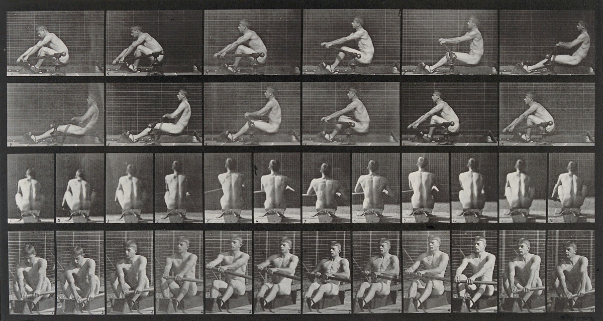 Muybridge's Rowing Man